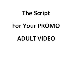 the script for your private label rights video