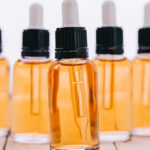 a collection of cbd oil bottles
